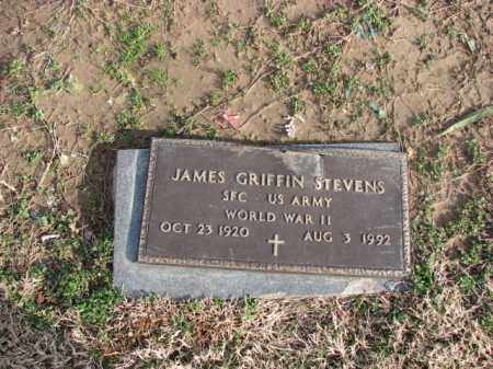 STEVENS (VETERAN WWII), JAMES GRIFFIN - Poinsett County, Arkansas | JAMES GRIFFIN STEVENS (VETERAN WWII) - Arkansas Gravestone Photos