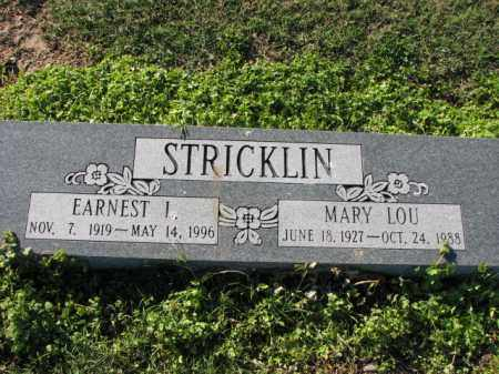 STRICKLIN, EARNEST L. - Poinsett County, Arkansas | EARNEST L. STRICKLIN - Arkansas Gravestone Photos