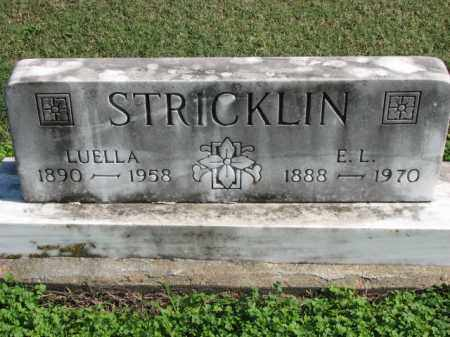 STRICKLIN, E.L. - Poinsett County, Arkansas | E.L. STRICKLIN - Arkansas Gravestone Photos