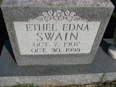 SWAIN, ETHEL EDNA - Poinsett County, Arkansas | ETHEL EDNA SWAIN - Arkansas Gravestone Photos