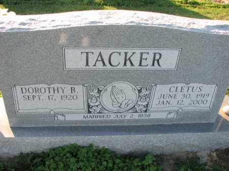 TACKER, CLETUS - Poinsett County, Arkansas | CLETUS TACKER - Arkansas Gravestone Photos