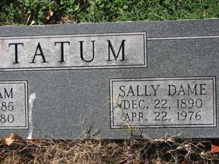 TATUM, SALLY DAME - Poinsett County, Arkansas | SALLY DAME TATUM - Arkansas Gravestone Photos