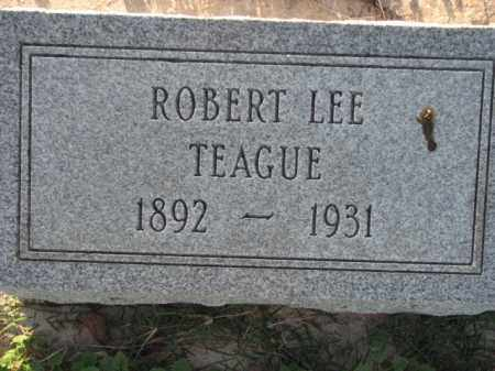 TEAGUE, ROBERT LEE - Poinsett County, Arkansas | ROBERT LEE TEAGUE - Arkansas Gravestone Photos