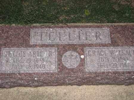 TELLIER, JULIUS ARTHUR - Poinsett County, Arkansas | JULIUS ARTHUR TELLIER - Arkansas Gravestone Photos