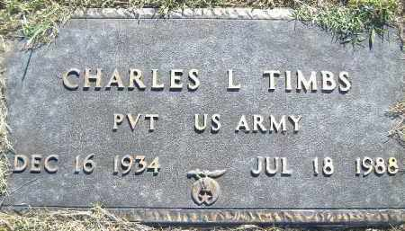 TIMBS  (VETERAN), CHARLES L. - Poinsett County, Arkansas | CHARLES L. TIMBS  (VETERAN) - Arkansas Gravestone Photos