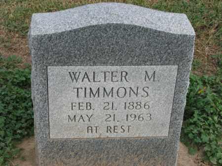 TIMMONS, WALTER M. - Poinsett County, Arkansas | WALTER M. TIMMONS - Arkansas Gravestone Photos