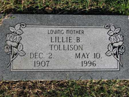 TOLLISON, LILLIE B. - Poinsett County, Arkansas | LILLIE B. TOLLISON - Arkansas Gravestone Photos