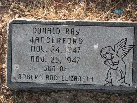 VANDERFORD, DONALD RAY - Poinsett County, Arkansas | DONALD RAY VANDERFORD - Arkansas Gravestone Photos