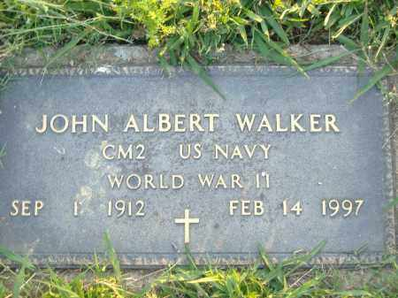 WALKER  (VETERAN WWII), JOHN ALBERT - Poinsett County, Arkansas | JOHN ALBERT WALKER  (VETERAN WWII) - Arkansas Gravestone Photos