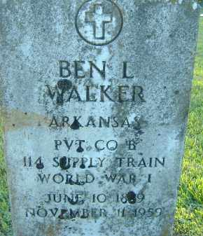 WALKER (VETERAN WWI), BEN L. - Poinsett County, Arkansas | BEN L. WALKER (VETERAN WWI) - Arkansas Gravestone Photos