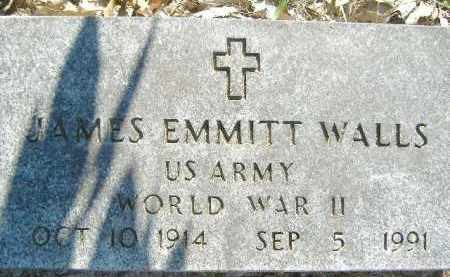WALLS  (VETERAN WWII), JAMES EMMITT - Poinsett County, Arkansas | JAMES EMMITT WALLS  (VETERAN WWII) - Arkansas Gravestone Photos