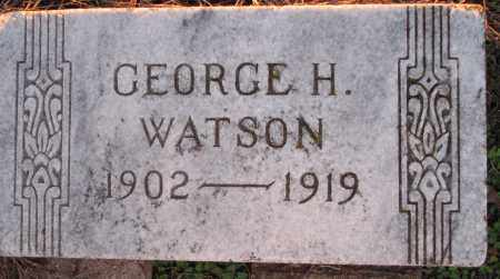 WATSON, GEORGE H. - Poinsett County, Arkansas | GEORGE H. WATSON - Arkansas Gravestone Photos