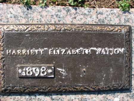 WATSON, HARRIETT ELIZABETH - Poinsett County, Arkansas | HARRIETT ELIZABETH WATSON - Arkansas Gravestone Photos