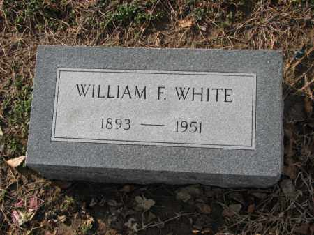 WHITE, WILLIAM F. - Poinsett County, Arkansas | WILLIAM F. WHITE - Arkansas Gravestone Photos