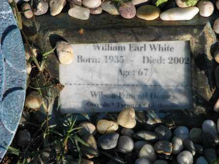 WHITE, WILLIAM EARL - Poinsett County, Arkansas | WILLIAM EARL WHITE - Arkansas Gravestone Photos