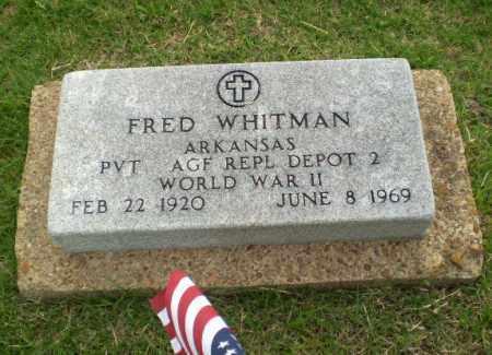 WHITMAN (VETERAN WWII), FRED - Poinsett County, Arkansas | FRED WHITMAN (VETERAN WWII) - Arkansas Gravestone Photos