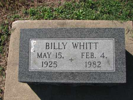 WHITT, BILLY - Poinsett County, Arkansas | BILLY WHITT - Arkansas Gravestone Photos