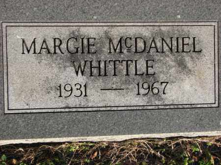 MCDANIEL WHITTLE, MARGIE - Poinsett County, Arkansas | MARGIE MCDANIEL WHITTLE - Arkansas Gravestone Photos