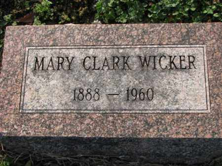 CLARK WICKER, MARY - Poinsett County, Arkansas | MARY CLARK WICKER - Arkansas Gravestone Photos