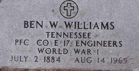 WILLIAMS  (VETERAN WWI), BEN W - Poinsett County, Arkansas | BEN W WILLIAMS  (VETERAN WWI) - Arkansas Gravestone Photos