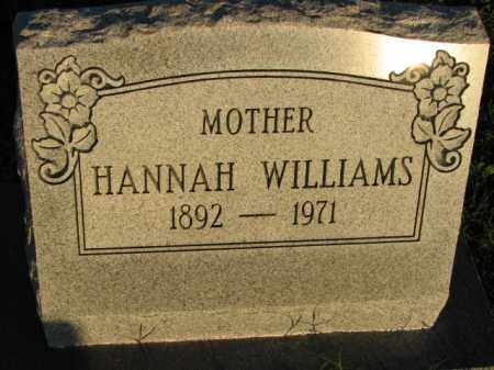 WILLIAMS, HANNAH - Poinsett County, Arkansas | HANNAH WILLIAMS - Arkansas Gravestone Photos