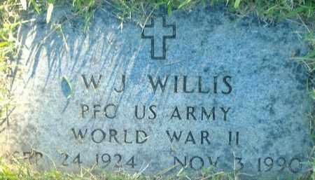WILLIS  (VETERAN WWII), W.J. - Poinsett County, Arkansas | W.J. WILLIS  (VETERAN WWII) - Arkansas Gravestone Photos