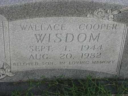 WISDOM, WALLACE COOPER - Poinsett County, Arkansas | WALLACE COOPER WISDOM - Arkansas Gravestone Photos