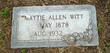 WITT, MATTIE - Poinsett County, Arkansas | MATTIE WITT - Arkansas Gravestone Photos