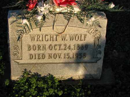 WOLF, WRIGHT W. - Poinsett County, Arkansas | WRIGHT W. WOLF - Arkansas Gravestone Photos