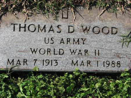 WOOD (VETERAN WWII), THOMAS D - Poinsett County, Arkansas | THOMAS D WOOD (VETERAN WWII) - Arkansas Gravestone Photos
