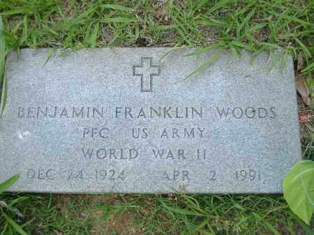 WOODS  (VETERAN WWII), BENJAMIN FRANKLIN - Poinsett County, Arkansas | BENJAMIN FRANKLIN WOODS  (VETERAN WWII) - Arkansas Gravestone Photos