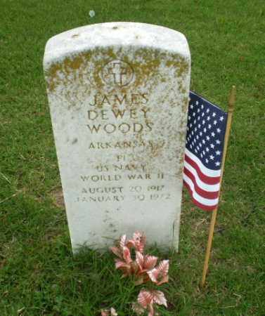 WOODS (VETERAN WWII), JAMES DEWEY - Poinsett County, Arkansas | JAMES DEWEY WOODS (VETERAN WWII) - Arkansas Gravestone Photos