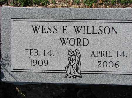 WILLSON WORD, WESSIE - Poinsett County, Arkansas | WESSIE WILLSON WORD - Arkansas Gravestone Photos