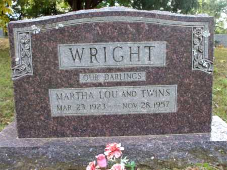 WRIGHT, MARTHA LOU - Poinsett County, Arkansas | MARTHA LOU WRIGHT - Arkansas Gravestone Photos