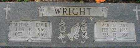 WRIGHT, MARTHA ANN - Poinsett County, Arkansas | MARTHA ANN WRIGHT - Arkansas Gravestone Photos