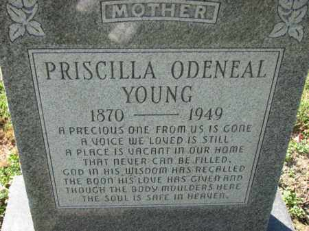 YOUNG, PRISCILLA - Poinsett County, Arkansas | PRISCILLA YOUNG - Arkansas Gravestone Photos