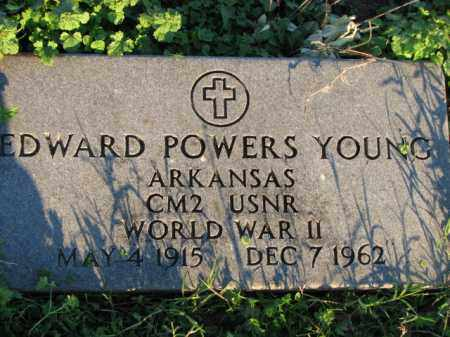 YOUNG (VETERAN WWII), EDWARD POWERS - Poinsett County, Arkansas | EDWARD POWERS YOUNG (VETERAN WWII) - Arkansas Gravestone Photos