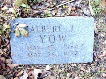 YOW, ALBERT J. - Poinsett County, Arkansas | ALBERT J. YOW - Arkansas Gravestone Photos