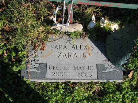ZARATE, SARA ALEXIS - Poinsett County, Arkansas | SARA ALEXIS ZARATE - Arkansas Gravestone Photos