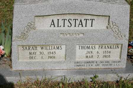 ALTSTATT  (VETERAN UNION), THOMAS FRANKLIN - Polk County, Arkansas | THOMAS FRANKLIN ALTSTATT  (VETERAN UNION) - Arkansas Gravestone Photos