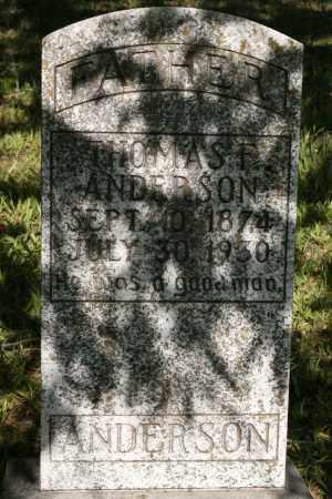 ANDERSON, THOMAS F - Polk County, Arkansas | THOMAS F ANDERSON - Arkansas Gravestone Photos