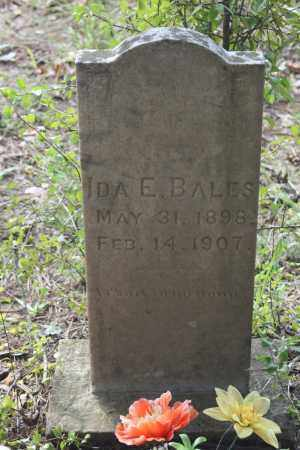 BALES, IDA E. - Polk County, Arkansas | IDA E. BALES - Arkansas Gravestone Photos