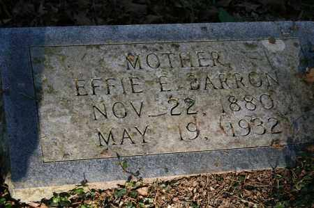 BARRON, EFFIE E. - Polk County, Arkansas | EFFIE E. BARRON - Arkansas Gravestone Photos