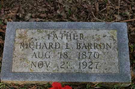 BARRON, RICHARD L. - Polk County, Arkansas | RICHARD L. BARRON - Arkansas Gravestone Photos