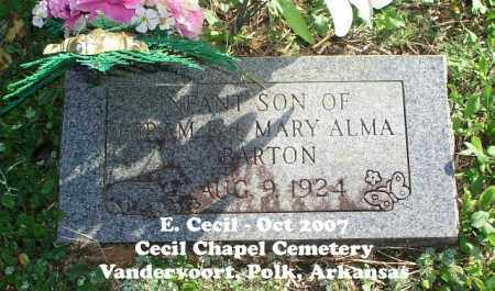 BARTON, INFANT SON - Polk County, Arkansas | INFANT SON BARTON - Arkansas Gravestone Photos