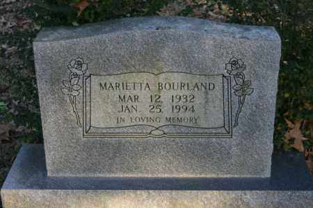 BOURLAND, MARIETTA - Polk County, Arkansas | MARIETTA BOURLAND - Arkansas Gravestone Photos