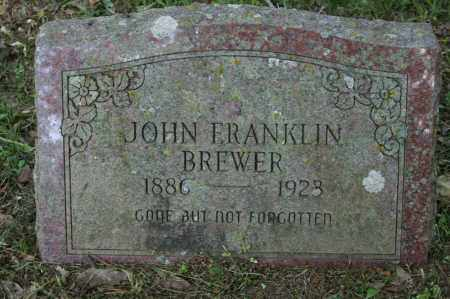 BREWER, JOHN FRANKLIN - Polk County, Arkansas | JOHN FRANKLIN BREWER - Arkansas Gravestone Photos