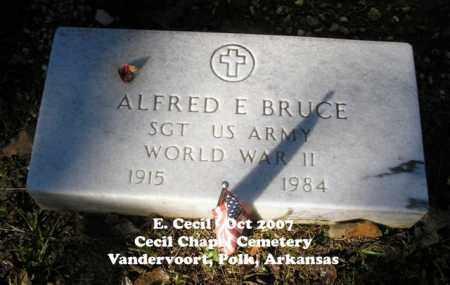 BRUCE (VETERAN WWII), ALFRED - Polk County, Arkansas | ALFRED BRUCE (VETERAN WWII) - Arkansas Gravestone Photos