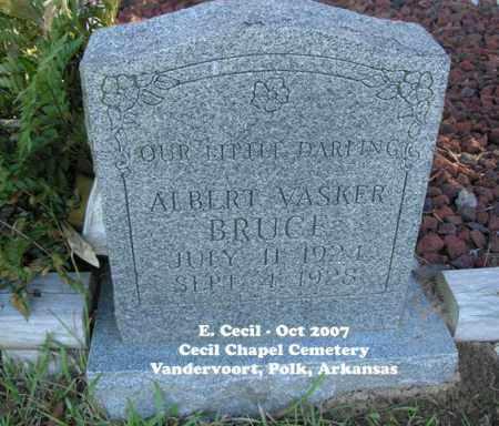 BRUCE, ALBERT VASKER - Polk County, Arkansas | ALBERT VASKER BRUCE - Arkansas Gravestone Photos