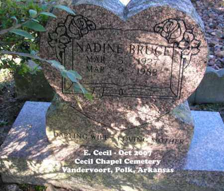 BRUCE, NADINE - Polk County, Arkansas | NADINE BRUCE - Arkansas Gravestone Photos